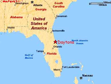 Daytona Beach Florida Central Florida Map