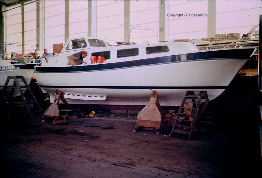 Finnsailer 35 motorsailer - Factory Production Line